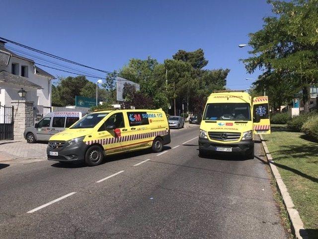Ambulancias del Summa-112 en su accidente de tráfico