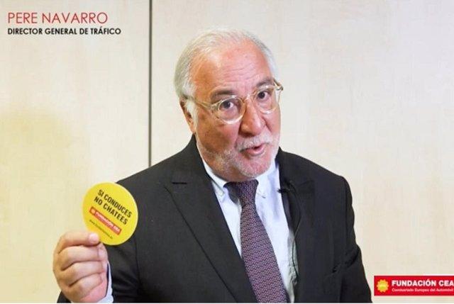 El director general de Tráfico, Pere Navarro, en el 'spot' de Fundación CEA 'Si