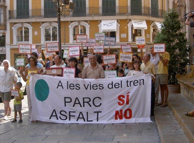 Manifestació d'ARCA el 2006. Imatge d'arxiu.