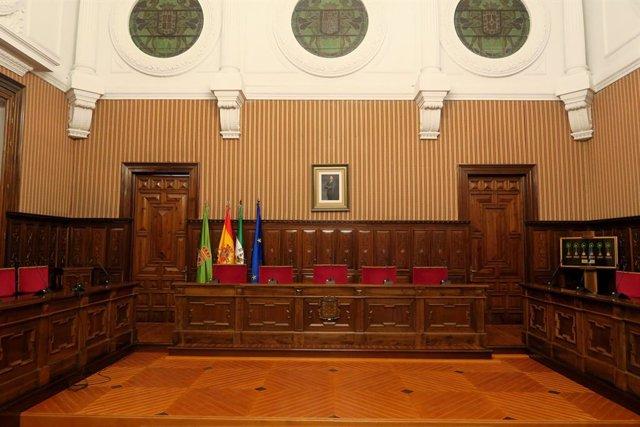 Salón de plenos de la Diputación de Jaén