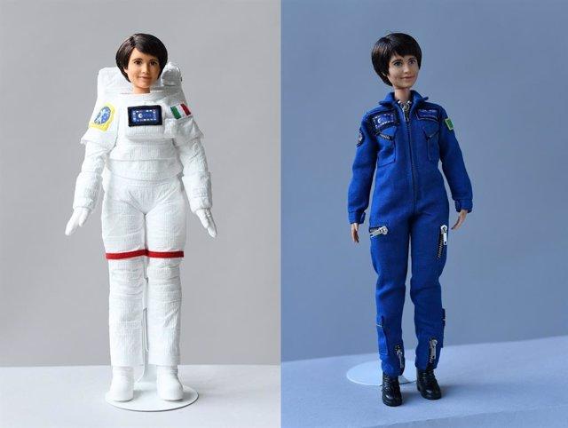 Barbie astronauta con la cara de la astronauta italiana Samantha Christoforetti