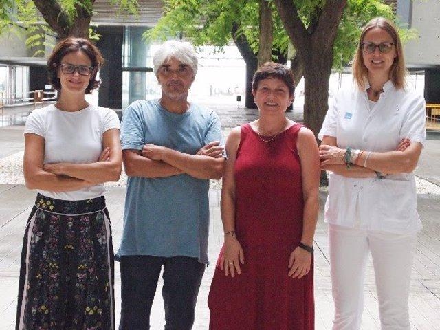 Los investigadores Mar Iglesias, Lluís Espinosa, Anna Bigas y Clara Montagut, del IMIM