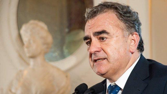 Javier Hernani, consejero delegado de BME, en el curso de economía de APIE y BBVA en la UIMP.