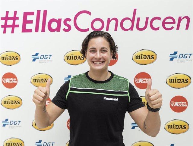 Ana Carrasco en la presentación de la campaña #EllasConducen