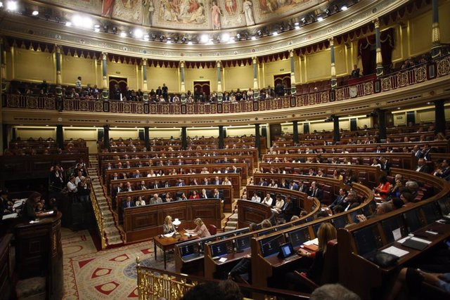 Vista del hemiciclo del Congreso de los Diputados durante la sesión constitutiva de la Cámara baja.