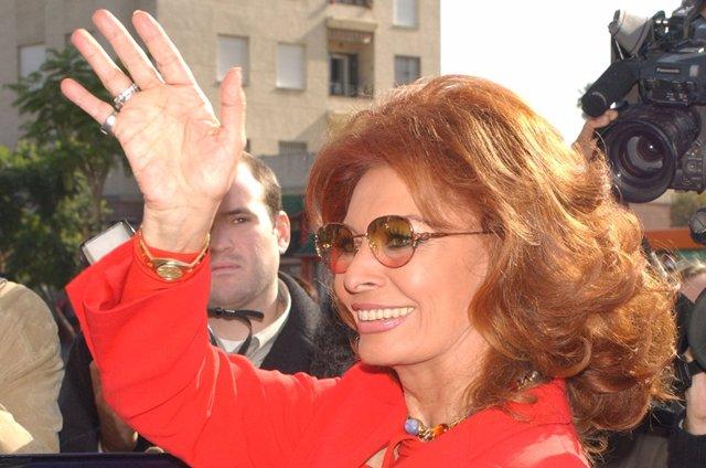 La actriz Sofía Loren