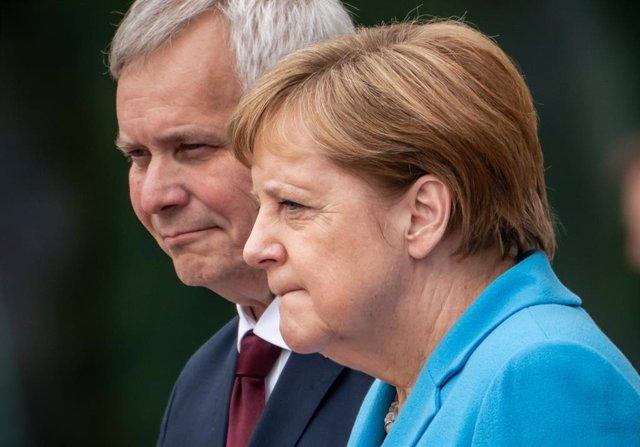 Angela Merkel i el primer ministre de Finlndia, Antti Rinne