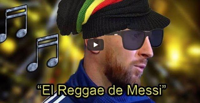 "MESSI ""CANTANDO"" UN REGGAE"