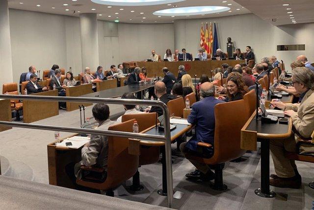 Ple de la Diputació de Barcelona en una imatge d'arxiu