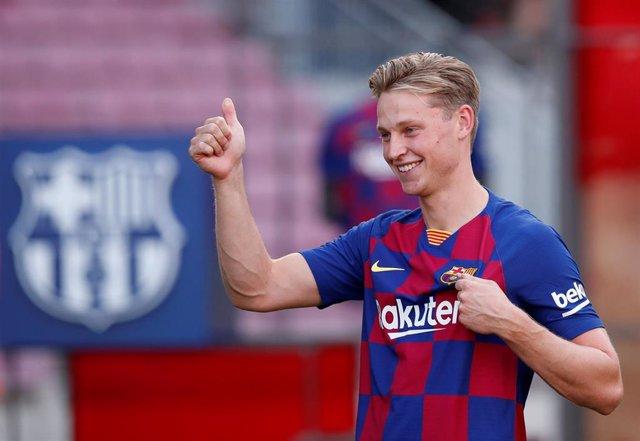El centrocampista del FC Barcelona Frenkie de Jong