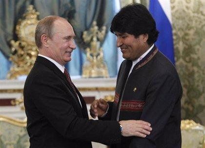 Morales viaja a Rusia para reunirse con Putin