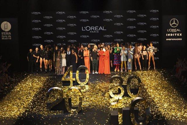 Desfile de  L'Oréal Paris en la Mercedes Benz Fashion Week Madrid