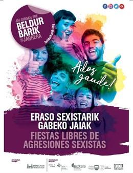 Emakunde, diputaciones y Eudel ponen a disposición de los ayuntamientos la campaña Fiestas libres de agresiones sexistas