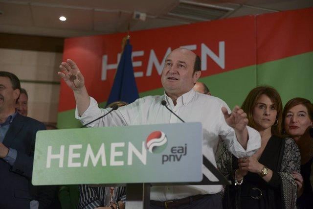 El president del PNB, Andoni Ortuzar, en una foto d'arxiu
