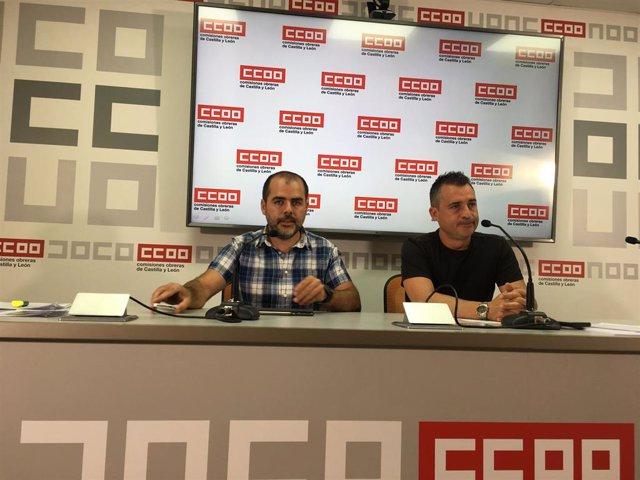 Raúl García (i) y Marcos Gutiérrez, hoy en rueda de prensa.
