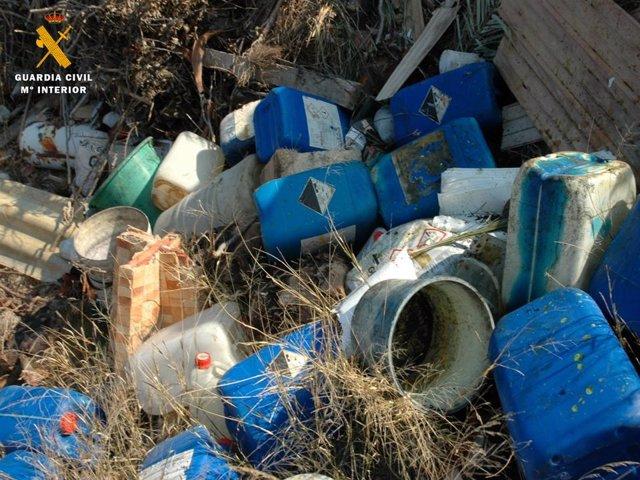 Los residuos peligrosos que se estaban arrojando en las balsas de El Burgo