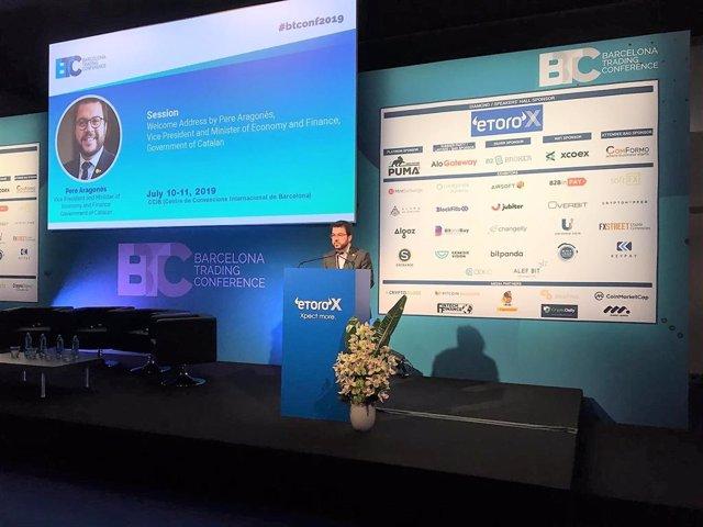 El vicepresident de la Generalitat Pere Aragonès en la Barcelona Trading Conference (BTC)