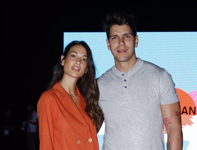 Estela Grande y Diego Matamoros en la Mercedes Benz Fashion Week de Madrid
