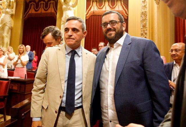 José Vicente Marí y Vicenç Vidal, tras ser elegidos senadores