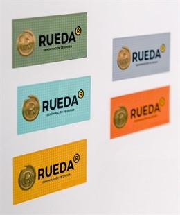 Imagen de archivo de contraetiquetas de la D.O. Rueda