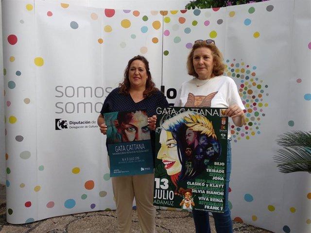 Navajas (izda.) y Mellado presentan el II Festival Gata Cattana