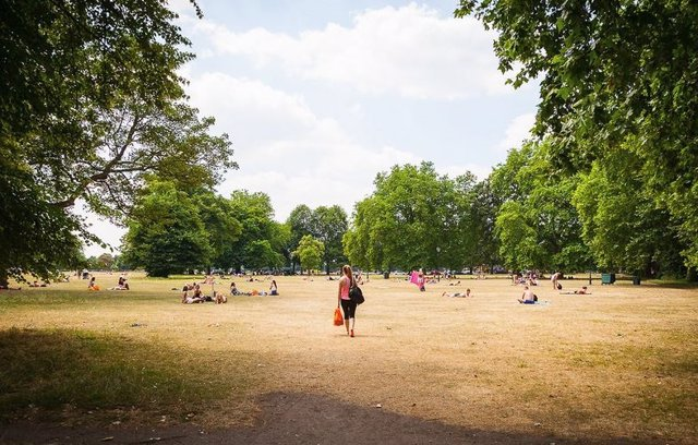 Ola de calor en Londres durante el verano de 2018