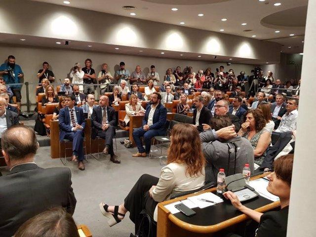 Pleno de constitución de la Diputación de Barcelona