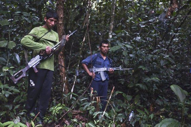 Miembros de la guerrilla peruana Sendero Luminoso (2012).