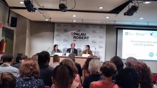 Rueda de premsa de presentación de 'Recomendaciones para una publicidad igualitaria' del CAC, ICD y, Coelgio Publicistas.