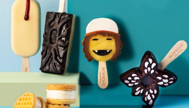 Fotografía de los helados creador por Jordi Roca para Stranger Things