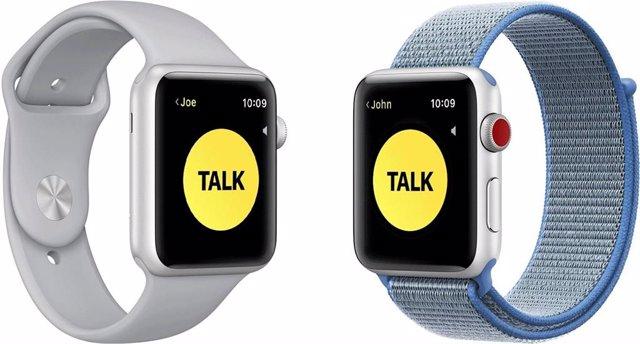Función de 'Walkie-Talkie' en Apple Watch