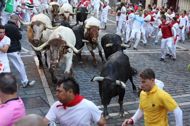 Cinquè tancament de les Festes de Sant Fermín amb toros de la Ramaderia de Victoriano del Riu Cortès