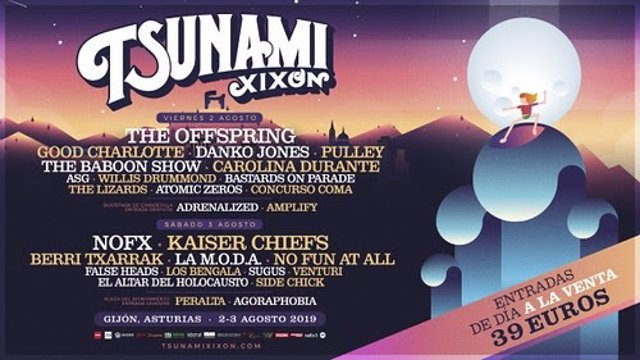 Cartel del festival de rock 'Tsunami Gijón' 2019.