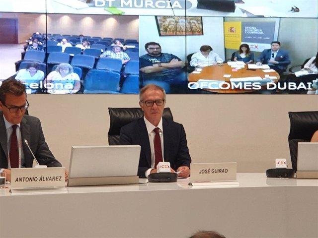 El ministro de Cultura y Deporte en funciones, José Guirao, durante su participación en la jornada 'Expo 2020 Dubái: Oportunidades de negocio de participación empresarial en el Pabellón de España',