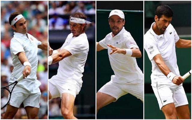 Federer vs Nadal y Bautista vs Djokovic, semifinales de Wimbledon