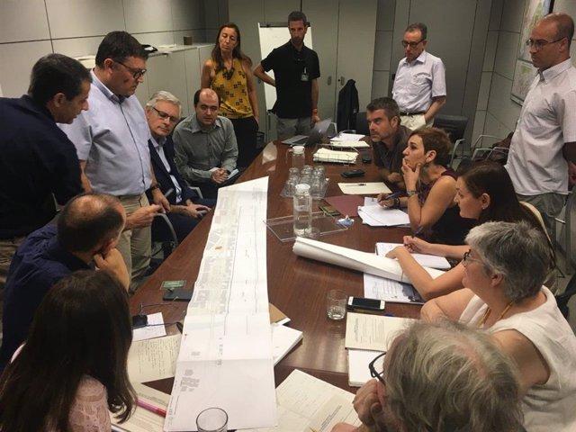 La reunión de la comisión de seguimiento del soterramiento de la línea ferroviaria de Montcada i Reixac