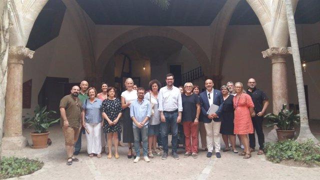 Foto de la primera reunió del Consell Municipal de Cultura de Palma d'aquesta legislatura.