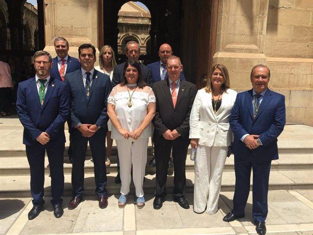 Foto de familia de los diez diputados del PP en la Diputación