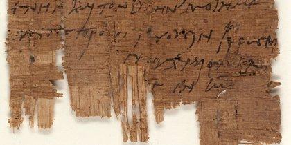 Un papiro egipcio resulta ser la carta cristiana más antigua conocida