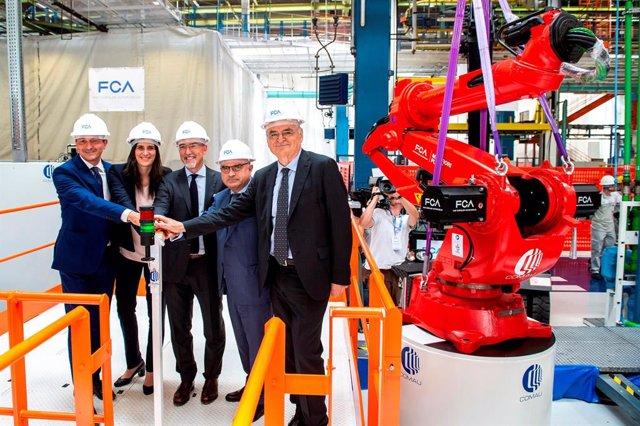 Acto de celebración del 80 aniversario de la planta de FCA en Miraflori (Turín)