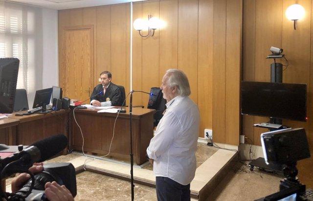 El empresario Bartolomé Cursach declarando en el juicio por insultar al juez Penalva