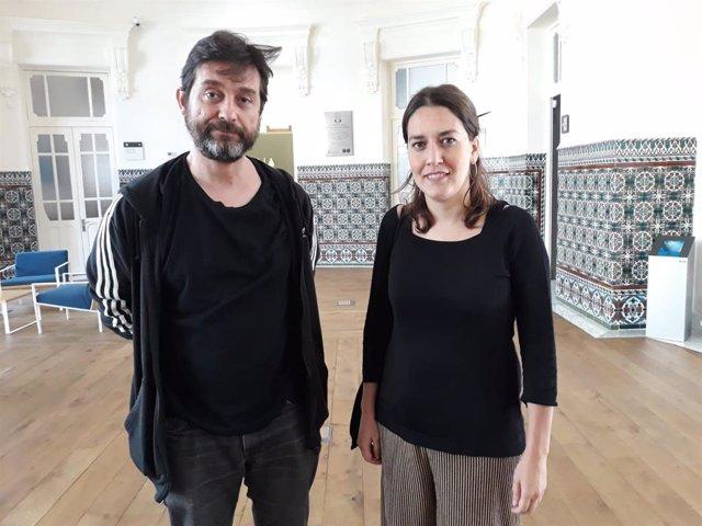 El diputado nacional de Unidas Podemos  Rafael Mayoral y la secretaria de Participación y Círculos,  Ana Marcello