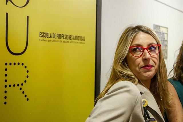 La candidata de Unidas Podemos al Parlamento Europeo, María Eugenia Rodríguez Palop, en una foto de archivo