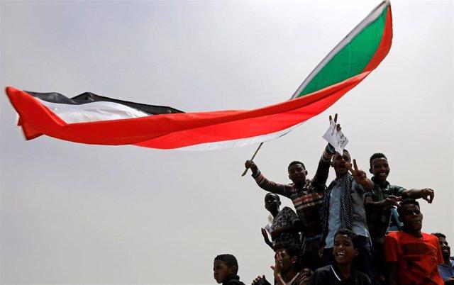 Manifestación de la oposición en Jartum