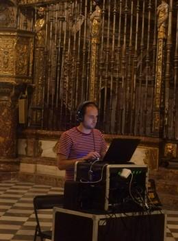 Grabación de la banda sonora de 'El sueño de Toledo' de Puy du Fou en la Catedral de Toledo.