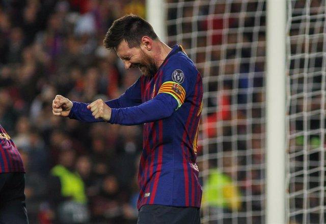 El futbolista argentino Lionel Messi