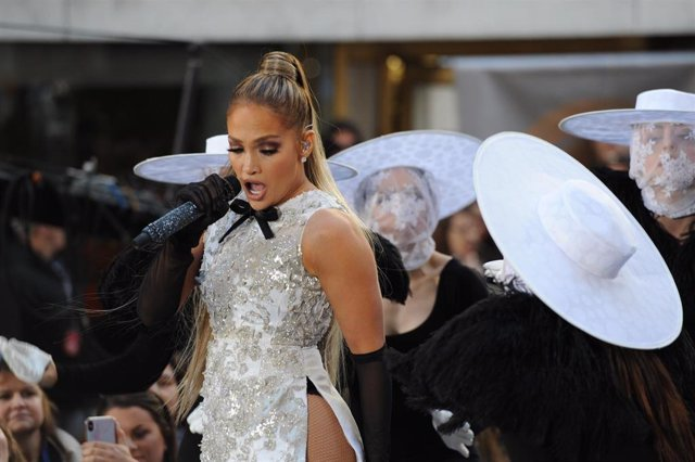 May 6, 2019 - New York, New York, USA: Bringing an unbelievable energy, theater, fashion and beauty mix, artist Jennifer Lopez (lovingly referred to as J Lo), delivered a dazzling performance kicking-off NBC's Today Show Concert Series at Rockefeller Plaz