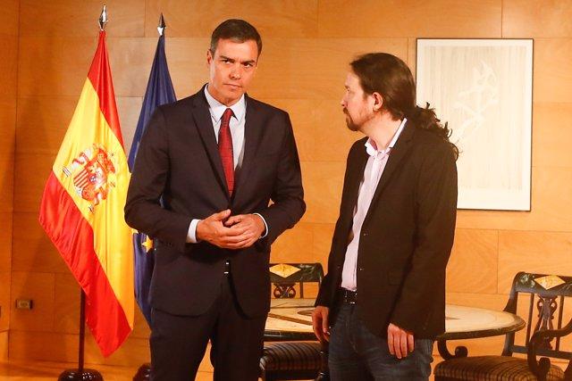 Pedro Sánchez se reúne con Pablo Iglesias de cara a la sesión de investidura