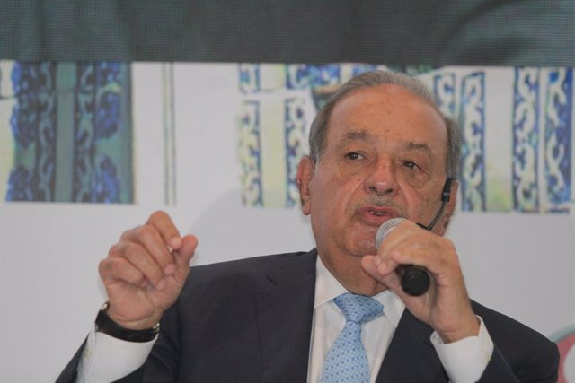 23 May 2019, Mexico, Mexico City: Mexican Businessman Carlos Slim speaks during an event at the Historic Center. Photo: Gustavo Durán/NOTIMEX/dpa