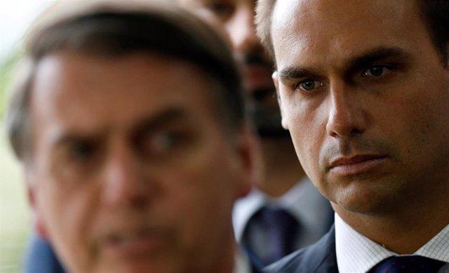 El hijo de presidente Bolsonaro, Eduardo.